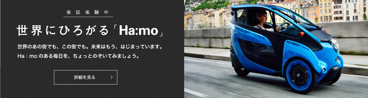 世界にひろがる「Ha:mo」